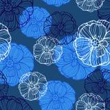 Modèle floral avec des fleurs de pavots Illustration de Vecteur