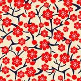 Modèle floral avec la cerise de fleur Photos libres de droits
