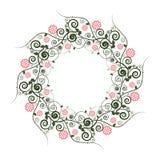 Modèle floral avec la guirlande Photographie stock libre de droits