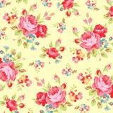 Modèle floral avec la rose de rose Photos libres de droits