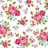 Modèle floral avec la rose de rouge Image libre de droits