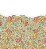 Modèle floral avec le papier déchiré Images libres de droits