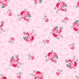 Modèle floral avec les roses roses Illustration Stock