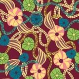 Modèle floral botanique sans couture - illustration Image libre de droits