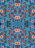 Modèle floral brodé sur le tissu images stock