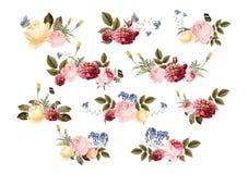 Modèle floral coloré de fleurs tirées par la main illustration libre de droits