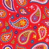 Modèle floral décoratif sans couture de broderie de vecteur Image libre de droits