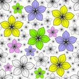 Modèle floral d'été Photo libre de droits