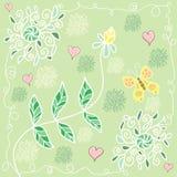 Modèle floral d'été coloré Photos libres de droits