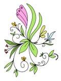 Modèle floral d'abrégé sur courant illustration illustration libre de droits