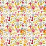Modèle floral d'abrégé sur vecteur d'aquarelle illustration libre de droits