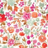 Modèle floral d'abrégé sur vecteur d'aquarelle illustration de vecteur