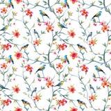 Modèle floral d'aquarelle Photographie stock
