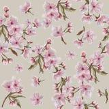 Modèle floral d'aquarelle sur Tan Background Pour Valentine, Jour du ` s de Pâques, de mère, mariage, et fiançailles illustration de vecteur