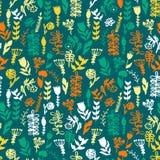 Modèle floral d'aquarelle, texture avec des fleurs Photographie stock libre de droits