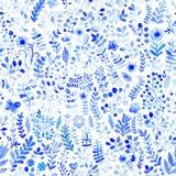 Modèle floral d'aquarelle, texture avec des fleurs Configuration florale Photographie stock libre de droits