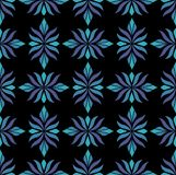 Modèle floral d'arabesque sans couture Art Deco Style Background Texture de fleur d'abrégé sur vecteur illustration de vecteur
