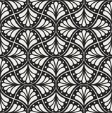 Modèle floral d'arabesque sans couture Art Deco Style Background Texture de fleur d'abrégé sur vecteur illustration stock
