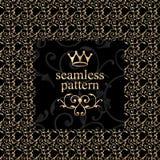 Modèle floral d'or de Seamles Photographie stock libre de droits