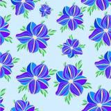 Modèle floral d'orchidée de vecteur sans couture illustration libre de droits
