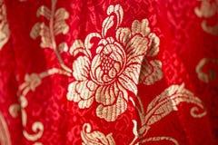 Modèle floral dans le style chinois de broderie Fond sans joint de fleur illustration libre de droits
