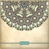 Modèle floral de cercle ornemental dans le grunge Image libre de droits