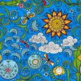 Modèle floral de couleur sans couture de vecteur illustration stock