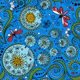 Modèle floral de couleur sans couture de vecteur illustration libre de droits