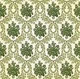 Modèle floral de damassé de vintage de vecteur Images libres de droits