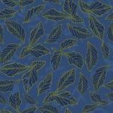 Modèle floral de feuille de dahlia illustration libre de droits