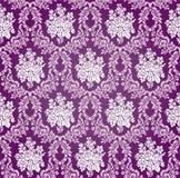 Modèle floral de fond de damassé de vecteur Images stock