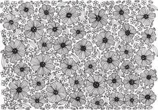Modèle floral de fond - page de coloration avec des fleurs illustration de vecteur