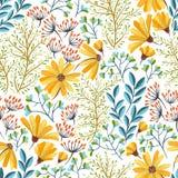 Modèle floral de ressort Image libre de droits