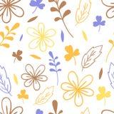 Modèle floral de simplicité sans couture Illustration élégante de vecteur Pour la copie, carte illustration de vecteur
