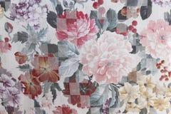 Modèle floral de tapisserie d'ameublement de pivoines Image stock