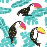Modèle floral de toucan Photos stock