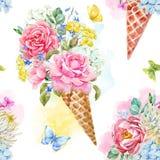 Modèle floral de vecteur d'aquarelle illustration de vecteur
