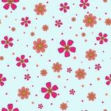 Modèle floral de vecteur dans le rose et magenta sans couture illustration de vecteur