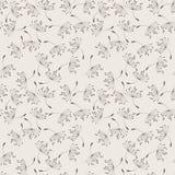 Modèle floral de vecteur sans couture du vol Photos libres de droits