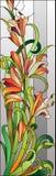 Modèle floral de verre coloré Photos libres de droits