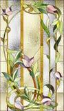 Modèle floral de verre coloré Images libres de droits