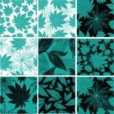 Modèle floral de vintage avec des feuilles Photos stock
