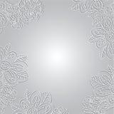 Modèle floral de vintage sur le fond clair Image stock