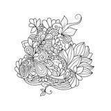 Modèle floral de Zentangle Image libre de droits