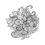 Modèle floral de Zentangle Photographie stock libre de droits