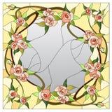 Modèle floral en verre souillé Photo stock