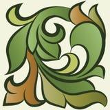 Modèle floral, feuilles, herbe Images libres de droits