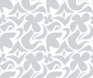 Modèle floral gris et blanc sans couture Photo stock
