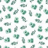Modèle floral mignon en petite fleur Watercolo sans couture de main illustration stock