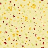 Modèle floral mignon sans couture de vecteur dans puéril Photo stock